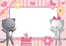 Katten. Kinderen photoframework. Royalty-vrije Stock Foto