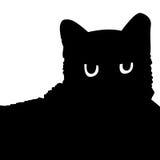 Katten - silhouet Royalty-vrije Stock Afbeeldingen