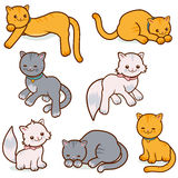Katten vectorreeks Stock Afbeeldingen