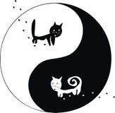 Katten. Ying en Yang. Royalty-vrije Stock Afbeeldingen