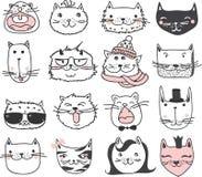 Kattenavatars stock illustratie