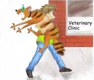 Kattendierenarts royalty-vrije illustratie