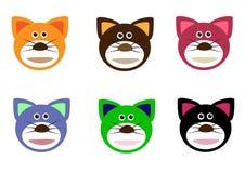 Kattengezichten Stock Afbeeldingen