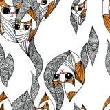 Kattenpatroon royalty-vrije illustratie