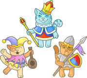 Kattenreeks beelden stock illustratie