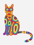 Kattensamenvatting colorfully Stock Foto's