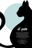 Kattensilhouet stock illustratie