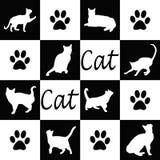 Kattensilhouetten Royalty-vrije Stock Fotografie