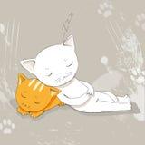 Kattenslaap Stock Afbeelding