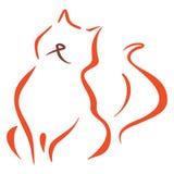 Kattensymbool Royalty-vrije Stock Fotografie