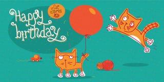 Kattenverhalen Reeks vectorillustraties over grappige katten royalty-vrije illustratie