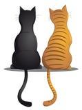 Kattenvrienden Stock Afbeeldingen