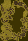 katteps-blomman lines avståndsstil Arkivfoton