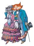 katteps-förälskelse Arkivbild
