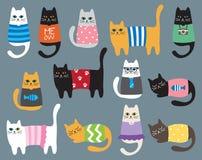 Katter vektor illustrationer
