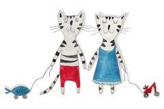 Katter fördärvar venusen Arkivfoto