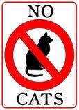 katter inget tecken Royaltyfria Foton