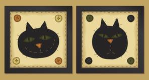 katter little två Arkivbilder