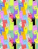 Katter roligt seamless för bakgrund vektor illustrationer