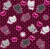 Katter rosa seamless för modell Royaltyfri Bild