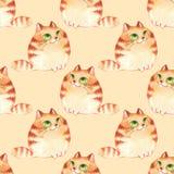 Katter sömlös modell Royaltyfria Bilder