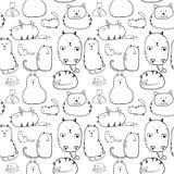 Katter. Sömlös textur Arkivfoto