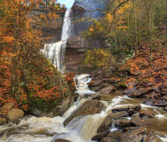 Katterskill Falls Autumn Panorama HDR Royalty Free Stock Photography