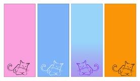 kattetiketter royaltyfri illustrationer