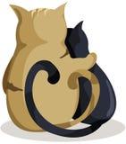 kattförälskelse royaltyfri illustrationer