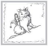 kattflicka vektor illustrationer