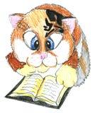 kattforskare royaltyfri illustrationer