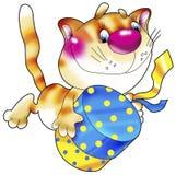 kattgåvared vektor illustrationer