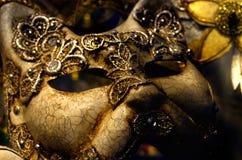 Katthuvudmaskering, karneval i Venedig Royaltyfri Fotografi