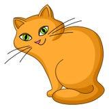 kattkinden sitter Vektor Illustrationer