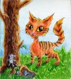 kattmöss vektor illustrationer