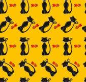 Kattmodell vektor illustrationer