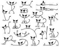 kattpott vektor illustrationer