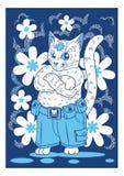 Katträddningsaktion för katt-vänner Royaltyfria Bilder