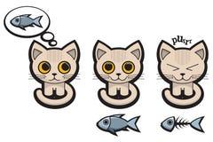 kattsinnesrörelser s stock illustrationer