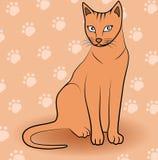 Kattsymbol - kattungevektorillustration Royaltyfri Fotografi