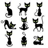 Kattsymbolsuppsättning vektor illustrationer