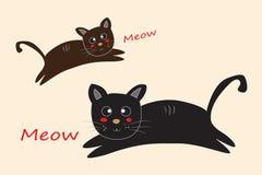 Katttecknad filmvektor royaltyfria bilder