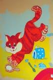 Kattteckning vektor illustrationer