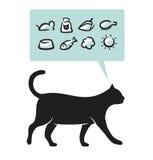 katttillförsel royaltyfri illustrationer