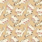 kattungar mönsan seamless Arkivbild
