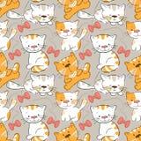 kattungar mönsan seamless Royaltyfria Bilder