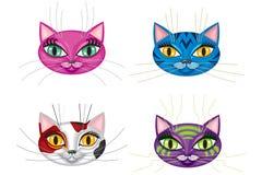 kattungar tystar ned stock illustrationer