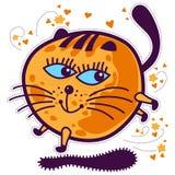Kattunge med stora blåa ögon royaltyfri illustrationer