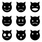 Kattungen vänder mot emotionellt Arkivfoton