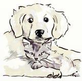 kattungevalp royaltyfri illustrationer